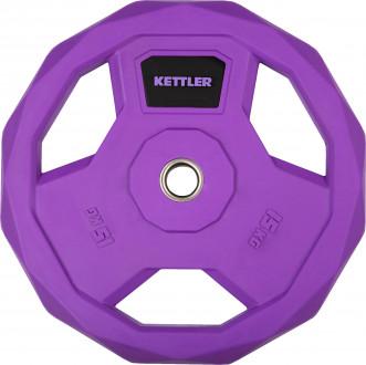 Блин стальной обрезиненный Kettler 15 кг