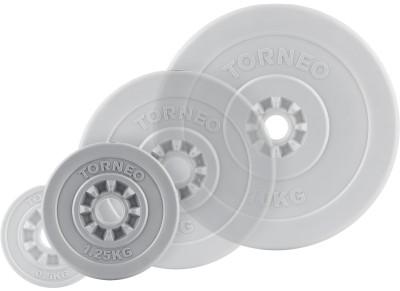 Блин Torneo в пластиковом корпусе 1,25 кгКомпозитные диски. Могут быть использованы как с грифами из абс-пластика, так и со стальными грифами. Посадочный диаметр: 30 мм.<br>Посадочный диаметр: 30 мм; Внешний диаметр: 175 мм; Толщина: 31 мм; Материал диска: Пластик; Покрытие: Пластик; Вес, кг: 1,25; Вид спорта: Силовые тренировки; Производитель: Torneo; Артикул производителя: 1008-12; Срок гарантии: 5 лет; Страна производства: Китай; Размер RU: Без размера;
