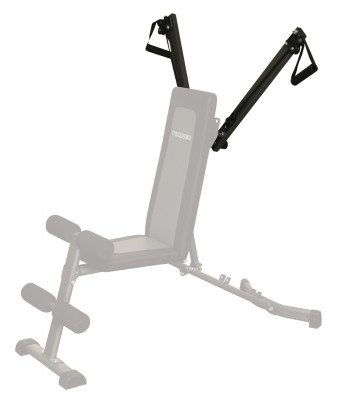 Эспандерный блок к скамье G-325 Torneo AltaКомпактный, современный и прочный эспандерный блок для скамьи torneo alta. Тренирует плечевой пояс, грудные мышцы и мышцы спины. Максимальное тренировочное усилие 11 кг.<br>Тренируемые группы мышц: Руки, плечи, грудь, спина. пресc; Регулировки: 3 положения эспандеров, 3 уровня нагрузки; Размер в рабочем состоянии (дл. х шир. х выс), см: 125 х 70 - 130 х 44 - 132; Вес, кг: 3; Вид спорта: Силовые тренировки; Технологии: EverProof; Производитель: Torneo; Артикул производителя: G-324; Срок гарантии: 2 года; Страна производства: Китай; Размер RU: Без размера;