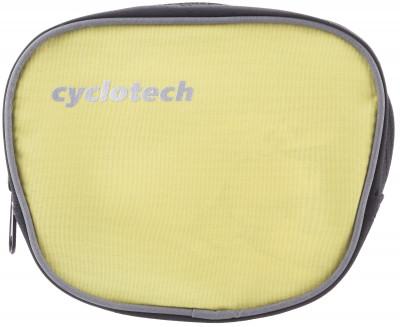 Велосипедная сумка CyclotechВелосипедная сумка. Особенности модели крепление на руль быстрая и легкая установка.<br>Материал верха: 100 % полиэстер; Объем: 0,1 л; Чехол от дождя: Нет; Органайзер: Нет; Размеры (дл х шир х выс), см: 15 x 13 x 6; Материалы: 100 % полиэстер; Вид спорта: Велоспорт; Производитель: Cyclotech; Артикул производителя: CYC-7Y.; Страна производства: Китай; Размер RU: Без размера;