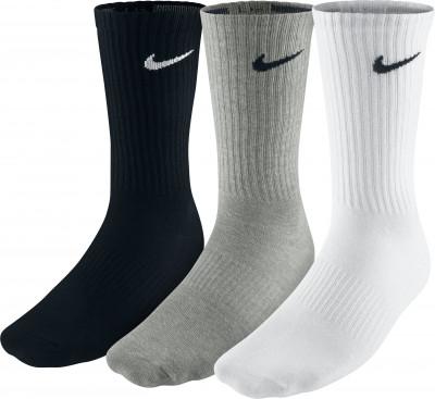 Носки Nike Lightweight Crew, 3 парыУдобные и прочные носки в спортивном стиле nike lightweight crew.<br>Пол: Мужской; Возраст: Взрослые; Вид спорта: Спортивный стиль; Материалы: 61 % хлопок, 36 % нейлон, 3 % эластан; Производитель: Nike; Артикул производителя: SX4704-901; Страна производства: Турция; Размер RU: 38-42;