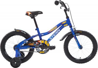 Stern Rocket 16 (2018)Специально для мальчиков младшего возраста (4-6 лет) разработан велосипед с размером колес 16 дюймов.<br>Материал рамы: Сталь; Рост: 100 - 125 см; Амортизация: Rigid; Конструкция рулевой колонки: Неинтегрированная; Конструкция вилки: Жесткая; Материал педалей: Пластик; Количество скоростей: 1; Конструкция педалей: Классические; Тип переднего тормоза: Ободной; Тип заднего тормоза: Ножной; Материал втулок: Сталь; Диаметр колеса: 16; Тип обода: Одинарный; Материал обода: Сталь; Наименование покрышек: 16 x 2,125; Возможность крепления боковых колес: Да; Материал руля: Сталь; Конструкция руля: Изогнутый; Регулировка руля: Да; Регулировка седла: Да; Амортизационный подседельный штырь: Нет; Сезон: 2018; Максимальный вес пользователя: 40 кг; Вид спорта: Велоспорт; Технологии: Hi-ten steel; Производитель: Stern; Артикул производителя: 18ROC16; Срок гарантии: 2 года; Вес, кг: 10,45; Страна производства: Китай; Размер RU: Без размера;