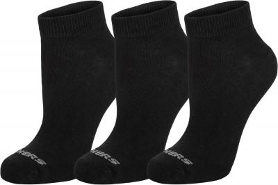 Носки для мальчиков Skechers, 3 парыМягкие детские носки прекрасно подойдут для занятий спортом и активного отдыха.<br>Пол: Мужской; Возраст: Дети; Вид спорта: Тренинг; Плоские швы: Да; Светоотражающие элементы: Нет; Дополнительная вентиляция: Да; Компрессионный эффект: Нет; Производитель: Skechers; Артикул производителя: S107839; Страна производства: Китай; Материалы: 68 % хлопок, 30 % полиэстер, 2 % спандекс; Размер RU: 24-35;