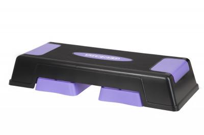 Степ-платформа TorneoСтеп-платформы<br>Степ-платформа из высокопрочного пластика. 3 уровня регулировки высоты 12 17 22 см. Максимальный вес пользователя 120 кг.