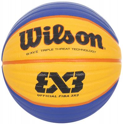Мяч баскетбольный Wilson Fiba 3X3 OfficialПрофессиональный баскетбольный мяч от wilson, предназначенный для игры на жестких покрытиях.<br>Сезон: 2017; Возраст: Взрослые; Вид спорта: Баскетбол; Тип поверхности: Для жёстких покрытий; Назначение: Профессиональные; Материал покрышки: Композитная кожа; Материал камеры: Бутил; Способ соединения панелей: Клееный; Количество панелей: 8; Вес, кг: 0,57-0,61; Производитель: Wilson; Артикул производителя: WTB0533XB; Срок гарантии: 6 месяцев; Страна производства: Китай; Размер RU: 6;