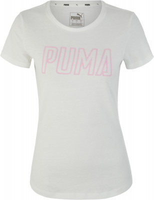 Футболка женская Puma Athletics, размер 42-44Футболки<br>Отличное завершение твоего образа в спортивном стиле - футболка от puma, декорированная объемной графикой.