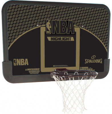 Баскетбольный щит Spalding Highlight 44 CompositeБаскетбольный композитный щит со стандартным кольцом. Размер: 112 х 73, 5 см. Диагональ: 111, 7 см.<br>Размеры (дл х шир х выс), см: 112 х 73,5; Вес, кг: 7.5; Состав: Композит; Вид спорта: Баскетбол; Производитель: Spalding; Артикул производителя: 80685CN; Страна производства: Китай; Размер RU: Без размера;