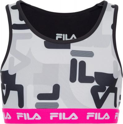 Бра беговое для девочек Fila, размер 152Футболки и майки<br>Бра fila для юных любительниц фитнеса. Плотная посадка продуманный крой и эластичная ткань для максимально удобной посадки.