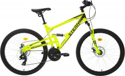 Stern Energy 2.0 FS 26 (2018)Горный двухподвесный велосипед подарит вам массу удовольствия от катания.<br>Материал рамы: Алюминиевый сплав; Размер рамы: 18; Амортизация: Full suspension; Конструкция рулевой колонки: Неинтегрированная; Наименование вилки: 565D 26 1шток 28,6 мм; Конструкция вилки: Пружинно-эластомерная; Ход вилки: 80 мм; Материал педалей: Пластик; Система: Prowheel; Количество скоростей: 21; Наименование переднего переключателя: Shimano Tourney FD-TY300; Наименование заднего переключателя: Shimano Tourney RD-TY21; Конструкция педалей: Классические; Наименование манеток: Shimano Tourney ST-EF41, EZ-Fire; Конструкция манеток: Триггерные двурычажные; Тип переднего тормоза: Дисковый механический; Тип заднего тормоза: Дисковый механический; Материал втулок: Алюминий; Диаметр колеса: 26; Тип обода: Двойной; Материал обода: Алюминий; Наименование покрышек: Chaoyang 26 x 1,95; Материал руля: Сталь; Название шифтера: Shimano Tourney ST-EF41, EZ-Fire; Конструкция руля: Изогнутый; Регулировка руля: Да; Регулировка седла: Да; Амортизационный подседельный штырь: Нет; Сезон: 2018; Максимальный вес пользователя: 110 кг; Вид спорта: Велоспорт; Технологии: Bi-Axial Tubing, Optimized Cycling Geometry, Rear Suspension System; Производитель: Stern; Артикул производителя: 18EN2FS18; Срок гарантии: 2 года; Вес, кг: 15,8; Страна производства: Китай; Размер RU: 165-175;