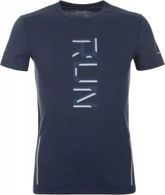 Футболка мужская Demix, размер 50Мужская одежда<br>Мужская футболка для бега от demix. Отведение влаги ткань с технологией movi-tex эффективно отводит влагу от кожи. Комфорт плоские швы не натирают кожу.