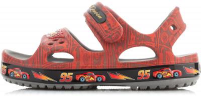 Сандалии для мальчиков Crocs Crocband II Lightning McQueenПляжные сандалии для мальчиков надежная фиксация регулируемые ремешки с застежкой-липучкой для надежной фиксации.<br>Пол: Мужской; Возраст: Дети; Вид спорта: Пляжный отдых; Материал верха: 100 % полимер; Материал подошвы: 100 % полимер; Производитель: Crocs; Артикул производителя: 204735; Страна производства: Китай; Размер RU: 24;