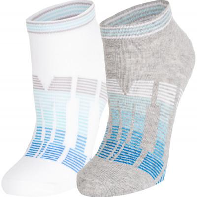 Носки женские Demix, 2 парыУниверсальные носки из качественного дышащего материала. Женские носки подходят для занятий бегом. В комплекте 2 пары.<br>Пол: Женский; Возраст: Взрослые; Вид спорта: Бег; Производитель: Demix; Артикул производителя: HWCZ01_AWM; Страна производства: Пакистан; Материалы: 56 % хлопок, 40 % нейлон, 4 % эластан; Размер RU: 39-42;