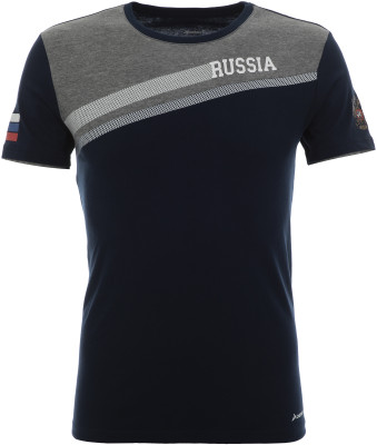 Футболка мужская Demix, размер 54Футболки<br>Футболка из линейки russian team для поклонников спорта и болельщиков российской сборной.
