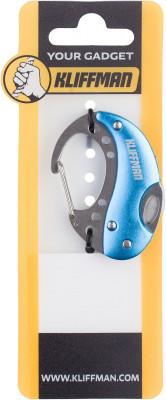 Брелок KLIFFMAN Карабин-ножБрелоки<br>Складной нож в форме брелока от kliffman. Миниатюрная модель выполнена из нержавеющей стали и алюминия. Легко поместится в кармане.