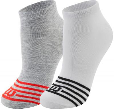 Носки Wilson, 2 парыПрактичные носки wilson. Благодаря эластичной ткани носки облегают ногу, что гарантирует удобную плотную посадку.<br>Пол: Мужской; Возраст: Взрослые; Вид спорта: Спортивный стиль; Дополнительная вентиляция: Да; Производитель: Wilson; Артикул производителя: W587-W; Страна производства: Китай; Материалы: 98 % полиэстер, 2 % эластан; Размер RU: 35-38;