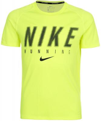 Футболка для мальчиков Nike Dry MilerФутболка для мальчиков от nike станет отличным вариантом для пробежек. Отведение влаги ткань nike dri-fit эффективно отводит влагу наружу, сохраняя кожу.<br>Пол: Мужской; Возраст: Дети; Вид спорта: Тренинг; Покрой: Прямой; Технологии: Nike Dri-FIT; Производитель: Nike; Артикул производителя: 856057-702; Страна производства: Малайзия; Материалы: 100 % полиэстер; Размер RU: 128-140;