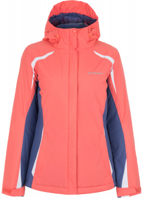 Куртка утепленная женская Columbia Snow RollerЯркая утепленная куртка для катания на горных лыжах от columbia. Защита от снега в модели предусмотрена снегозащитная юбка.<br>Пол: Женский; Возраст: Взрослые; Вид спорта: Горные лыжи; Покрой: Приталенный; Длина куртки: Средняя; Капюшон: Не отстегивается; Количество карманов: 3; Застежка: Молния; Производитель: Columbia; Артикул производителя: 1707441810L; Страна производства: Вьетнам; Материал верха: 100 % нейлон; Материал подкладки: 100 % нейлон; Размер RU: 48;
