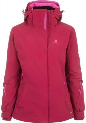 Куртка утепленная женская Salomon BrilliantУдобная и практичная куртка от salomon - отличный выбор для катания на горных лыжах. Защита от влаги технология advancedskin dry защищает от дождя, снега и ветра.<br>Пол: Женский; Возраст: Взрослые; Вид спорта: Горные лыжи; Вес утеплителя на м2: 100 г/м2; Наличие мембраны: Да; Регулируемые манжеты: Да; Водонепроницаемость: 20 000 мм; Паропроницаемость: 20 000 г/м2/24 ч; Защита от ветра: Да; Температурный режим: До -15; Покрой: Свободный; Дополнительная вентиляция: Да; Проклеенные швы: Да; Датчик спасательной системы: Нет; Капюшон: Отстегивается; Мех: Отсутствует; Снегозащитная юбка: Да; Количество карманов: 5; Карман для маски: Да; Карман для Ski-pass: Да; Выход для наушников: Нет; Водонепроницаемые молнии: Да; Артикулируемые локти: Да; Совместимость со шлемом: Да; Технологии: AdvancedSkin Dry, AdvancedSkin Warm, MOTION FIT; Производитель: Salomon; Артикул производителя: L39688000; Страна производства: Бангладеш; Материал верха: 86 % полиамид, 14 % эластан; Материал подкладки: 100 % полиэстер; Материал утеплителя: 100 % полиэстер; Размер RU: 46-48;