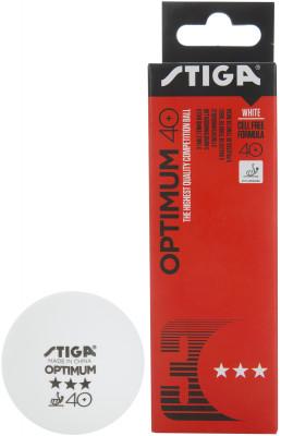 Мячи для настольного тенниса Stiga Optimum, 3 шт.Набор мячей для настольного тенниса одобрены ittf.<br>Количество звезд: 3; Диаметр мяча: 40+ мм; Материалы: 100 % пластик; Вид спорта: Настольный теннис; Производитель: Stiga; Артикул производителя: 1113-1910-03; Срок гарантии: 2 года; Страна производства: Китай; Размер RU: Без размера;
