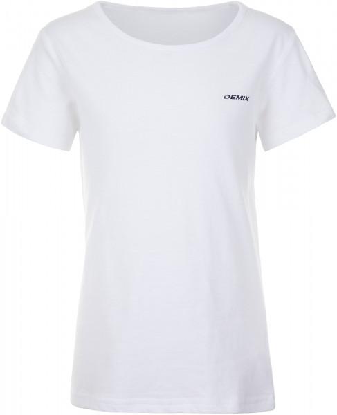 Футболка для девочек Demix белый цвет - купить за 229 руб. в  интернет-магазине Спортмастер 8ff9817e8be