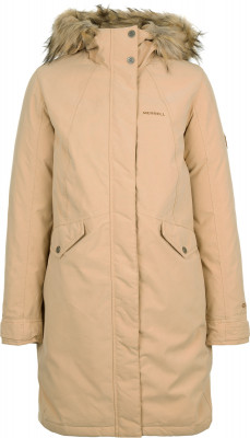 Куртка пуховая женская MerrellТеплая пуховая куртка от merrell - отличный выбор для любительниц поездок и путешествий. Сохранение тепла утеплитель, состоящий из пуха и пера, надежно защищает от холода.<br>Пол: Женский; Возраст: Взрослые; Вид спорта: Путешествие; Температурный режим: До -20; Светоотражающие элементы: Нет; Дополнительная вентиляция: Нет; Длина куртки: Длинная; Наличие карманов: Да; Капюшон: Не отстегивается; Количество карманов: 3; Артикулируемые локти: Нет; Застежка: Молния; Технологии: M Select SHIELD; Производитель: Merrell; Артикул производителя: RJAW01T144; Страна производства: Китай; Материал верха: 60 % полиэстер, 40 % нейлон; Материал подкладки: 100 % полиэстер; Материал утеплителя: 90 % утиный пух серый, 10 % утиное перо серое, утеплитель Капюшон: 100 % полиэстер, искусственный мех: 100 % акрил; Размер RU: 44;