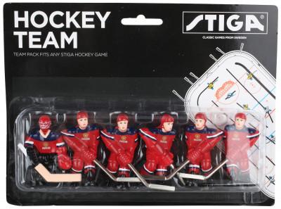 Команда игроков Stiga Сборная РоссииСменные фигурки игроков сборной россии, которые подходят для настольного хоккея stiga play off и stanley cup.<br>Вес, кг: 0,03; Состав: 90 % пластик, 10 % алюминий; Вид спорта: Настольный хоккей; Производитель: Stiga; Артикул производителя: HC-9090-05; Срок гарантии: 1 год; Страна производства: Китай; Размер RU: Без размера;