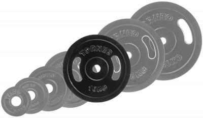 Блин Torneo стальной 10 кгСтальные диски. Эмалированный метал. Удобные пазы-рукояти для захвата на блинах. Посадочный диаметр: 30 мм.<br>Посадочный диаметр: 31 мм; Внешний диаметр: 300 мм; Толщина: 25 мм; Материал диска: Сталь; Покрытие: Эмаль; Вес, кг: 10; Вид спорта: Силовые тренировки; Технологии: ErgoMove, EverProof; Производитель: Torneo; Артикул производителя: 1022-100; Срок гарантии: 5 лет; Страна производства: Китай; Размер RU: Без размера;