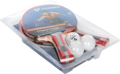Набор для настольного тенниса TorneoНабор для настольного тенниса (2 ракетки, 1 сетка, 3 шарика)<br>Скорость: 7; Контроль: 8; Вращение: 6; Тип основания: ALL; Материал основания: Платан; Количество слоев основания: 7; Толщина основания: 5,5 мм; Форма ручки: Вогнутая; Тип накладки: Гладкая; Толщина губки: 1,8 мм; Материал накладки: Резина, губка; Количество звезд: 1; Диаметр мяча: 40 мм; Сетка: В комплекте; Тип крепления: Винт; Вид спорта: Настольный теннис; Производитель: Torneo; Артикул производителя: TI-BS1000; Срок гарантии: 12 месяцев; Страна производства: Китай; Размер RU: Без размера;