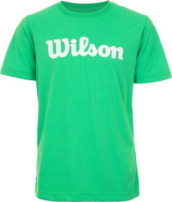 Футболка для мальчиков Wilson Team Script Tech Tee, размер 152-162