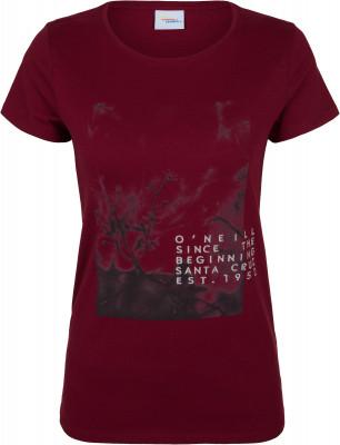 Футболка женская ONeill Lw Felines Of Oneill, размер 52-54Surf Style <br>Яркая футболка o neill с фотопринтом для любительниц активного отдыха у воды.