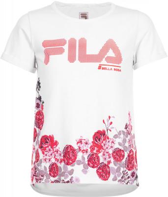 Футболка для девочек Fila, размер 116Футболки и майки<br>Детская футболка от fila, выполненная в спортивном стиле. Натуральные материалы натуральный воздухопроницаемый хлопок с небольшим добавлением спандекса гарантирует комфорт.