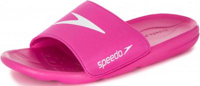 Шлепанцы для девочек Speedo, размер 27-27,5Шлепанцы <br>Яркие детские шлепанцы для бассейна от speedo. Влагоотвод дренажные отверстия в подошве для быстрого отведения влаги и дополнительной вентиляции.