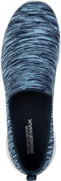 14e354b0e Слипоны женские Skechers Go Walk Joy-Terrific синий/белый цвет — купить за  3799 руб. в интернет-магазине Спортмастер
