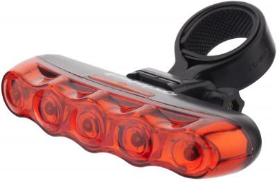 Фонарь велосипедный задний CyclotechЗадний велосипедный фонарь cyclotech.<br>Материалы: Пластик; Тип батареек: 2xAAA; Размеры (дл х шир х выс), см: 10,5 х 3 х 1,7; Регулировка светового потока: Нет; Количество режимов работы: 3; Вид спорта: Велоспорт; Производитель: Cyclotech; Артикул производителя: CRL-2.; Страна производства: Китай; Размер RU: Без размера;