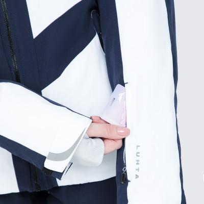 Фото 7 - Куртку женская Luhta Jalonoja, размер 42 белого цвета