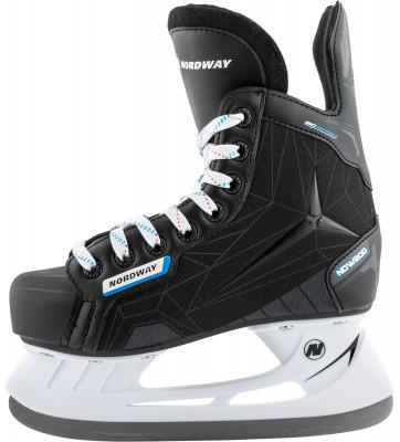 Nordway NDW200 (подростковые)Ледовые коньки<br>Детские коньки nordway станут отличным выбором для юных любителей хоккея. Анатомическая конструкция анатомическая колодка biometric максимально повторяет форму ноги.