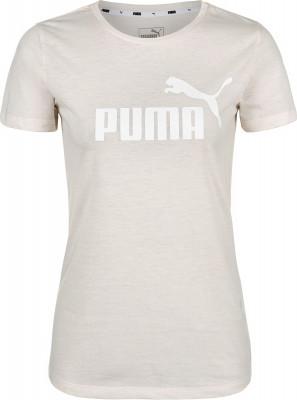 Футболка женская Puma ESS+ Logo Heather Tee, размер 48-50