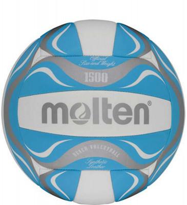 Мяч волейбольный MoltenМяч для пляжного волейбола: изготовлен из тонкой синтетической кожи для мягкого контакта с рукой; машинное шитье.<br>Сезон: 2015; Возраст: Взрослые; Вид спорта: Волейбол; Тип поверхности: Для пляжа; Назначение: Тренировочные; Материал покрышки: Синтетическая кожа; Материал камеры: Бутил; Способ соединения панелей: Машинная сшивка; Количество панелей: 18; Вес, кг: 0,28; Производитель: Molten; Артикул производителя: V5B1501-B; Срок гарантии: 2 года; Страна производства: Китай; Размер RU: 5;