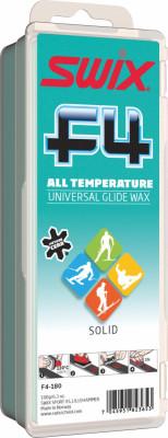 Мазь скольжения Swix F4Универсальная мазь скольжения для лыж и сноубордов, подойдет для любого типа снега. Рекомендуется нанести, расплавить утюгом, снять излишки скребком и обработать щеткой.<br>Вес, кг: 0,18; Вид спорта: Горные лыжи; Производитель: Swix; Артикул производителя: F4-180; Размер RU: Без размера;