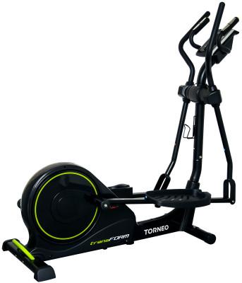 Torneo Transform C-530Тренировки на эллиптическом тренажере помогут стать стройнее и укрепить мышцы рук, плеч, груди, спины, ног и пресса.<br>Система нагружения: Магнитная; Масса маховика: 10 кг; Регулировка нагрузки: Электронная; Длина шага: 420 мм; Измерение пульса: Датчики на поручнях; Питание тренажера: Сеть: 220В; Максимальный вес пользователя: 150 кг; Время тренировки: Есть; Скорость: Есть; Пройденная дистанция: Есть; Уровень нагрузки: Есть; Скорость вращения педалей: Есть; Израсходованные калории: Есть; Отображение профиля величины нагрузки: Есть; Пульс: Есть; Хранение данных о пользователях: 4 пользователя; Контроль за верхним пределом пульса: Есть; Целевые тренировки (CountDown): Есть; Дополнительные функции: Фитнес-тест, жироанализатор, сенсорные клавиши с технологией E-touch; Общее количество тренировочных программ: 23; Пульсозависимые программы: 4; Пользовательские программы: 4; Подставка для аксессуаров: Держатель для бутылки; Транспортировочные ролики: Есть; Компенсаторы неровности пола: Есть; Дополнительно: Складная конструкция для экономии места в доме, амортизатор для плавного раскладывания и складывания, регулировка положения педалей в зависимости от роста пользователей (3 позиции); Складная конструкция: Да; Размеры (дл х шир х выс), см: 168 x 68 x 157; Вес, кг: 51; Вид спорта: Кардиотренировки; Технологии: EverProof, ExaMotion, SoftFall; Производитель: Torneo; Артикул производителя: C-530; Срок гарантии: 2 года; Страна производства: Китай; Размер RU: Без размера;