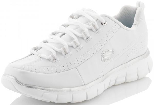 e78fcc71d85e Кроссовки женские Skechers Synergy-Elite Status белый серебристый цвет -  купить за 2759 руб. в интернет-магазине Спортмастер