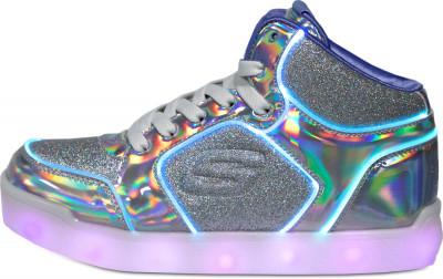 Кеды для девочек Skechers E-Pro III-Glitzy Glow, размер 38Кеды <br>Фантастические светящиеся кеды от skechers - идеальное завершение образа в спортивном стиле.