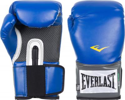 Перчатки тренировочные Everlast PU Pro StyleБазовые перчатки для занятий единоборствами, прекрасный тренировочный вариант. Высококачественная синтетическая кожа. Отверстия на ладони для вентиляции.<br>Вес, кг: 10 oz; Тип фиксации: Липучка; Материал верха: Искусственная кожа; Вид спорта: Бокс; Производитель: Everlast; Артикул производителя: 2210U; Срок гарантии: 14 дней; Страна производства: Китай; Размер RU: 10 oz;