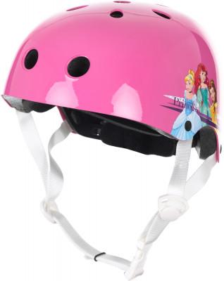 Шлем для девочек REACTIONШлем для девочек disney princess. Удобная регулировка размера и фиксирующие ремешки позволят надежно закрепить шлем на голове.<br>Пол: Женский; Возраст: Дети; Вид спорта: Роликовые коньки; Конструкция: Out-mold; Вентиляция: Принудительная; Сертификация: EN1078; Тип регулировки размера: Поворотное кольцо; Материал внешней раковины: Пластик; Материал внутренней раковины: Пенополистирол; Материал подкладки: Полиэстер; Производитель: REACTION; Артикул производителя: RERO03080S; Срок гарантии: 2 года; Страна производства: Китай; Размер RU: S;