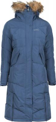 Куртка пуховая женская MerrellТеплая и длинная куртка с капюшоном merrell - удачный выбор для походов.<br>Пол: Женский; Возраст: Взрослые; Вид спорта: Походы; Вес утеплителя на м2: 458 г/м2; Наличие чехла: Нет; Возможность упаковки в карман: Нет; Регулируемые манжеты: Нет; Водонепроницаемость: 10 000 мм; Паропроницаемость: 10 000 г/м2/24 ч; Температурный режим: До -20; Покрой: Приталенный; Светоотражающие элементы: Да; Дополнительная вентиляция: Нет; Проклеенные швы: Нет; Длина куртки: Длинная; Наличие карманов: Да; Капюшон: Не отстегивается; Количество карманов: 3; Застежка: Молния; Технологии: M Select XDRY; Производитель: Merrell; Артикул производителя: RJAW06S352; Страна производства: Китай; Материал верха: 100 % полиэстер; Материал подкладки: 100 % полиэстер; Материал утеплителя: 70 % утиный пух серый, 30 % утиное перо серое; рукав/ капюшон: 100 % полиэстер, искусственный мех: 100 % акрил; Размер RU: 52;