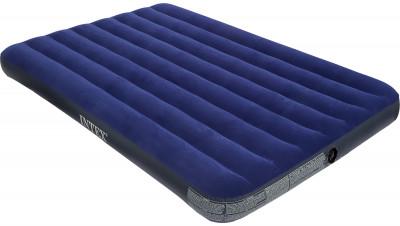 Матрас надувной Intex Classic Downy Bed FullКлассическая надувная кровать с велюровым вискозным флокированным покрытием для 2х человек.<br>Максимальная нагрузка, кг: 175; Вместимость чел.: 2; Количество мест: 2; Вес, кг: 3,8; Размеры (дл х шир х выс), см: 137 х 191 х 23; Длина: 137 см; Ширина: 191 см; Материалы: Поливинилхлорид; Вид спорта: Кемпинг; Производитель: Intex; Артикул производителя: ВД68758; Срок гарантии: 6 месяцев; Страна производства: Китай; Размер RU: Без размера;
