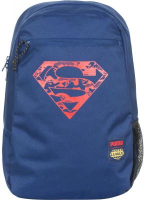 Рюкзак детский PumaЯркий рюкзак от puma, украшенный символом супермена.<br>Пол: Мужской; Возраст: Дети; Вид спорта: Спортивный стиль; Объем: 16 л; Размеры (дл х шир х выс), см: 27 x 42 x 15; Водоотталкивающая пропитка: Нет; Количество карманов: 2; Выход для наушников: Нет; Отделение для ноутбука: Нет; Количество отделений: 2; Производитель: Puma; Артикул производителя: 074839; Страна производства: Вьетнам; Материал верха: 100 % полиэстер; Размер RU: Без размера;
