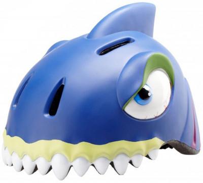 Шлем велосипедный детский Crazy Stuff SharkЗабавный шлем в виде звериной головы не оставит равнодушным вашего ребенка.<br>Регулировка размера: Нет; Материал внешней раковины: Пенополистирол, поликарбонат; Сертификация: EN 1078; Производитель: Crazy Stuff; Артикул производителя: 110045-10; Срок гарантии: 2 года; Страна производства: Китай; Размер RU: 49-55 см;