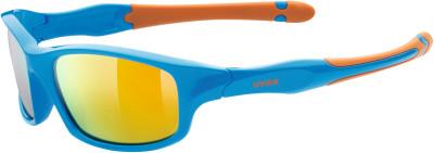 Солнцезащитные очки детские Uvex Sportstyle 507Спортивные солнцезащитные очки uvex для детей.<br>Возраст: Дети; Пол: Мужской; Цвет линз: Оранжевый; Цвет оправы: Синий, оранжевый; Назначение: Детские; Ультрафиолетовый фильтр: Да; Поляризационный фильтр: Нет; Зеркальное напыление: Да; Категория фильтра: 3; Материал линз: Поликарбонат; Оправа: Пластик; Вид спорта: Активный отдых; Технологии: LITEMIRROR; Производитель: Uvex; Артикул производителя: S5338664316; Срок гарантии: 1 месяц; Страна производства: Китай; Размер RU: Без размера;