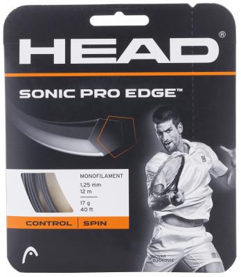 Струна Head Sonic Pro EdgeСтруна head sonic pro edge из специального полимерного полиэстера обеспечивает максимальный контроль. Пятиугольное сечение позволяет сильнее закручивать мяч.<br>Материалы: Полиэстер; Вид спорта: Большой теннис; Производитель: Head; Артикул производителя: 285503; Страна производства: Китай; Размер RU: Без размера;